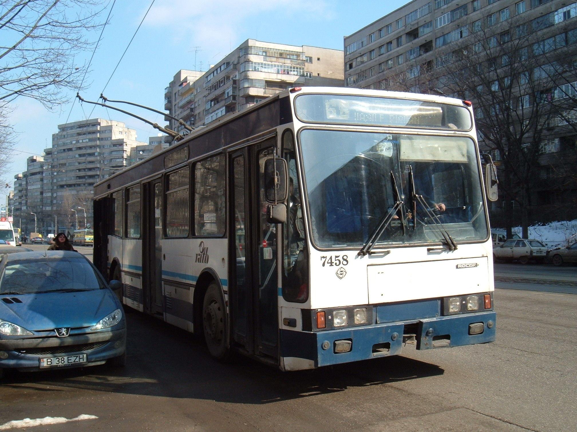 7458. Trolleybus Rocar on line 66